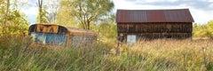 """""""Forgotten Beauty"""", color photograph, landscape, bus, barn, Vermont"""