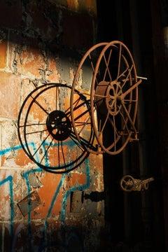 """Unaccompanied"", Rebecca Skinner, metal print, photograph, industrial, abandoned"