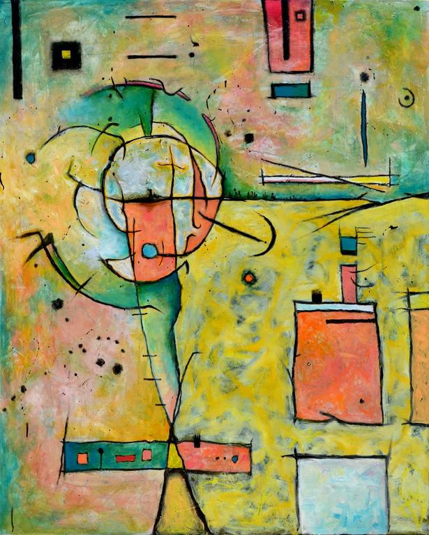 Anita Loomis Abstract Painting - Nomad