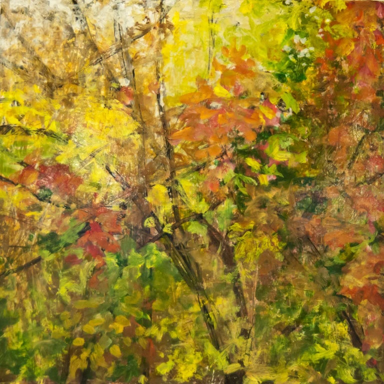 Cheryl Clinton Abstract Painting - Tree Light Fall 4
