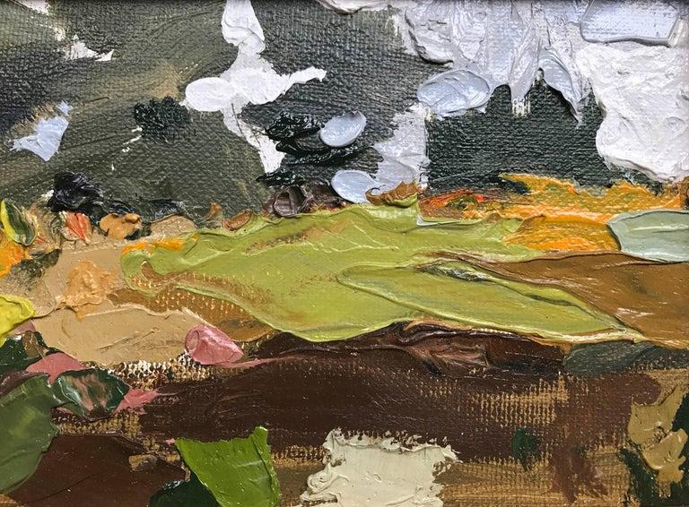 Joseph Fontinha Landscape Painting - Every Day Field Beyond Low Corn