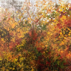 C. Clinton, Tree Light Series Fall 3, landscape painting in autumn colors