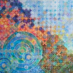"""Circles 30 (Elemental)"", abstract, acrylic painting, geometric, circles, dots"