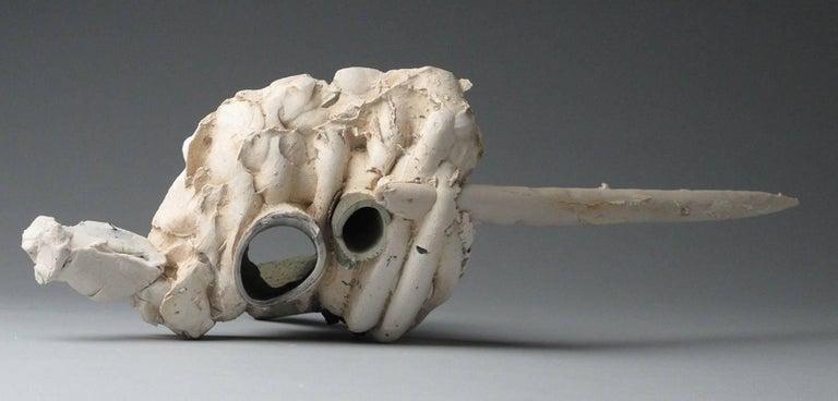 """Rumble"", Sara Fine-Wilson, abstract, ceramic, sculpture, neutral tones - Sculpture by Sara Fine-Wilson"