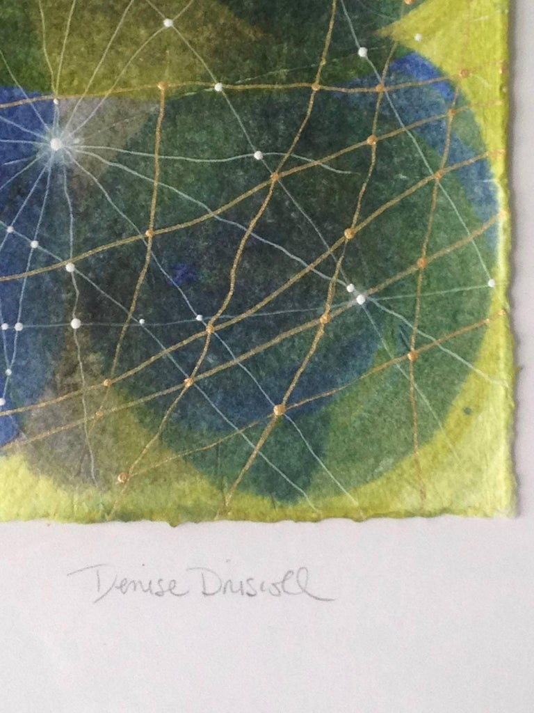 Inner Garden 10 - Gray Abstract Painting by Denise Driscoll