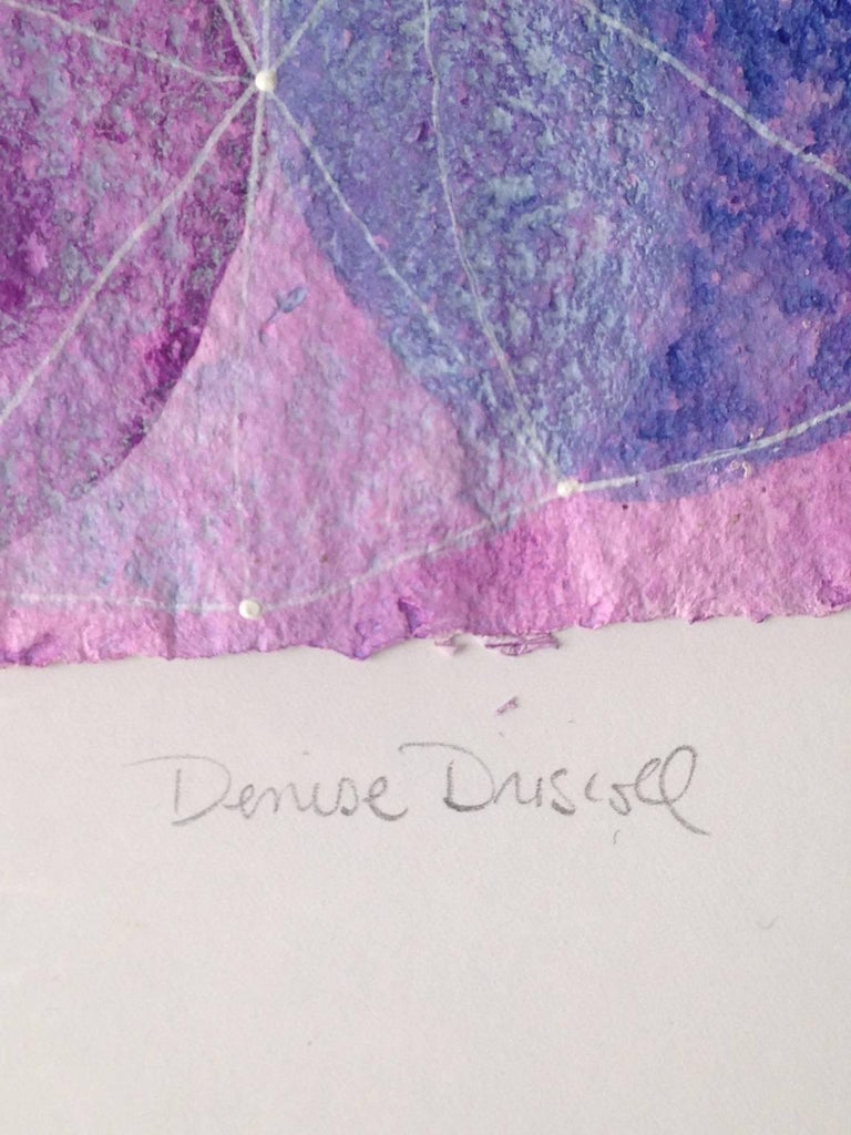 Inner Garden 16 - Purple Abstract Painting by Denise Driscoll