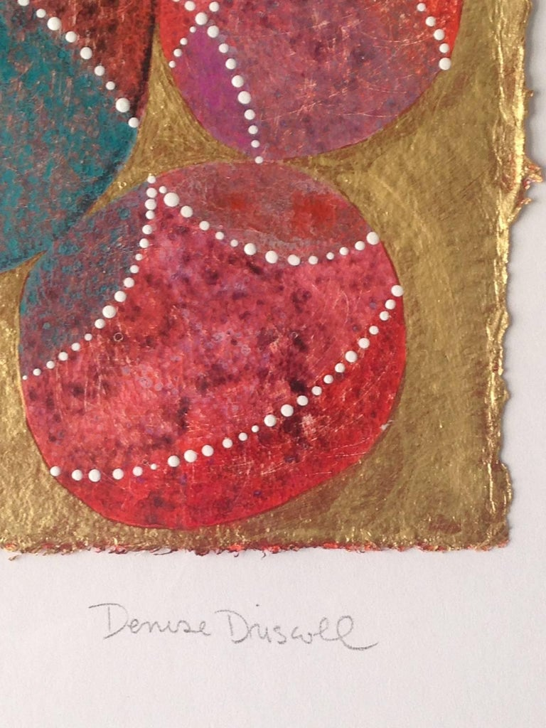 Inner Garden 21 - Brown Abstract Painting by Denise Driscoll