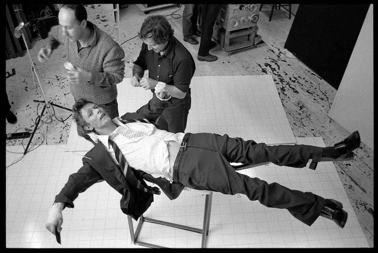David Bowie, Lodger Set Build, 1979