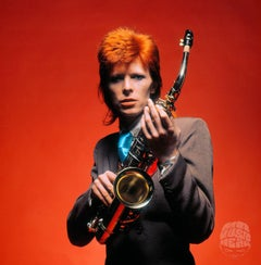 David Bowie, Saxophone by Mick Rock, 1973