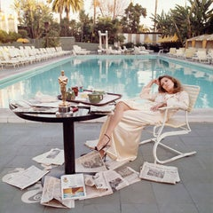 Faye Dunaway, Beverly Hills Hotel, 1977 by Terry O'Neill (Signed by Dunaway)