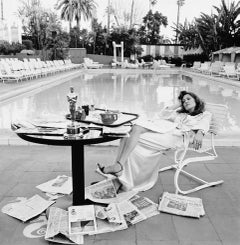 Faye Dunaway, Beverly Hills Hotel, 1977 by Terry O'Neill, Edition of 50