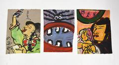 Set of Small Paintings by Jeffrey Hargrave / 'Afro Asian Watermelon'