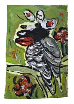 Birdy, Small Painting on Paper by Jeffrey Hargrave