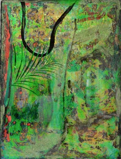 Once Upon the Amazon (Ayahuasca), Large Mixed Media Painting by DeShawn Dumas