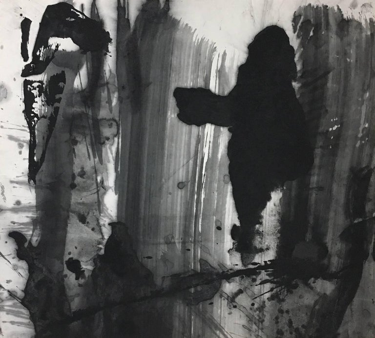 Untitled No. 7 / Abstract Ink Painting on Chinese Rice Paper by Lan Zhenghui