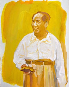 Watercolor Painting of Mao Zedong by Han Xin