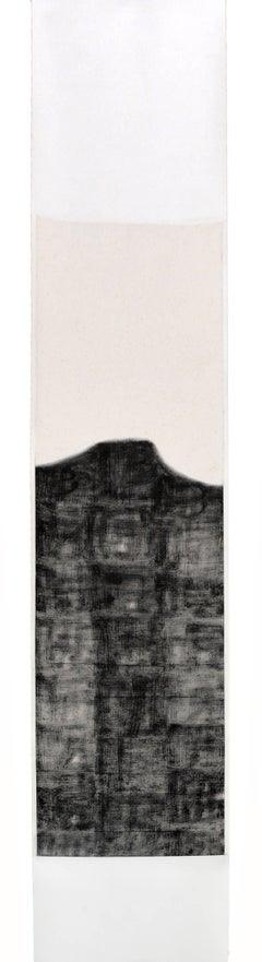 Buddha, Contemporary Abstract Ink Painting on Cloth Mount by Bian Hong