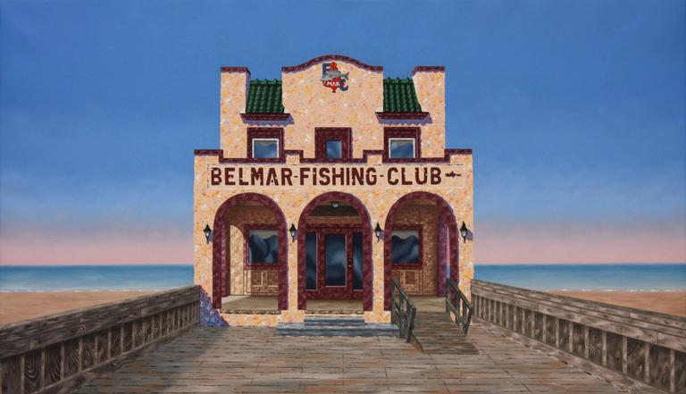 Mark Oberndorf Belmar Fishing Club Painting At 1stdibs