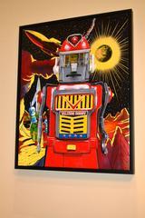 Talking Robot -- Original Oil Painting