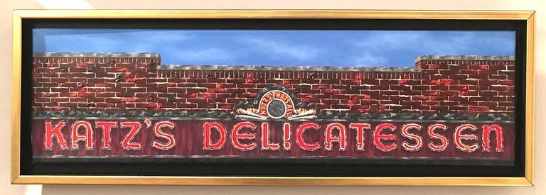 Mark oberndorf katz 39 s delicatessen original oil painting for Hendrickson s fine jewelry