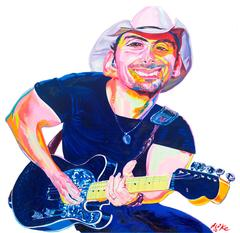 Brad Paisley Original Oil Painting by Philip Burke