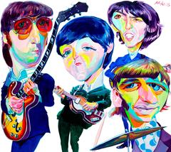 The Beatles Original Oil Painting by Philip Burke
