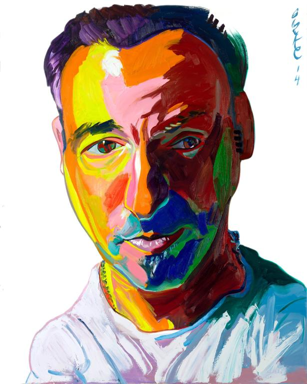 Philip Burke - Bruce Springsteen Original Oil Painting by Philip Burke 1
