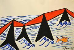 Alexander Calder - Tancarville Original Calder Gouache