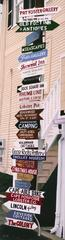 Kennebunkport Street Signs -- Original Oil Painting