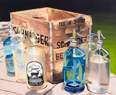 Schneider Seltzer Bottles (Signed and Numbered Limited Edition Giclee on Canvas)