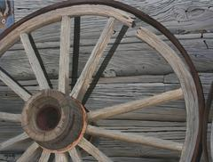 Wheel on The Cabin (Original Oil Painting) American Wild West Western Theme