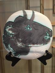 Picasso Madoura Ceramic Ramie 317 Profil de Taureau Fonce