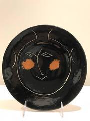 Service Visage Noir -- Picasso Madoura Ceramic Ramie 39