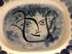 Visage Noir Putoise -- Picasso Madoura Ceramic Ramie 49