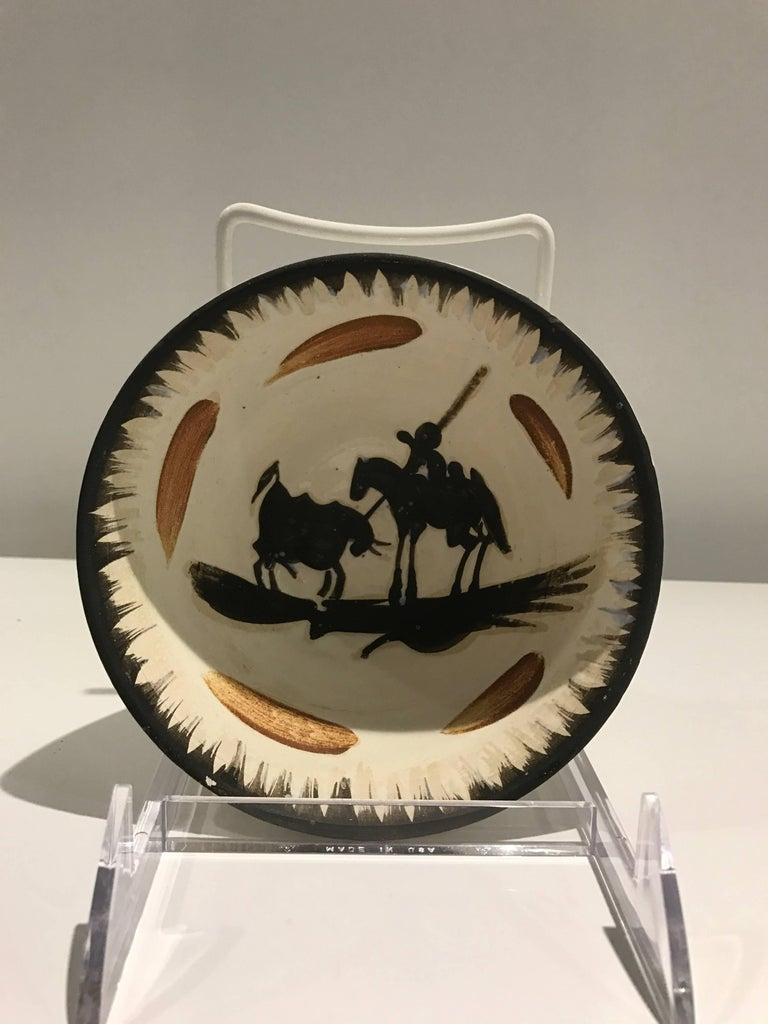 Pablo Picasso Figurative Sculpture - Picador Ramie 289 Picasso Madoura Ceramic