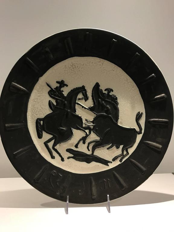 Scène de Tauromachie Picasso Madoura Ceramic Ramie 412