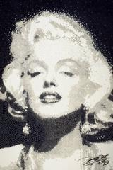 Marilyn in Monochrome -- Original Oil Painting
