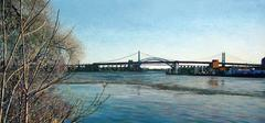 Hell Gate Bridge -- Original Oil Painting