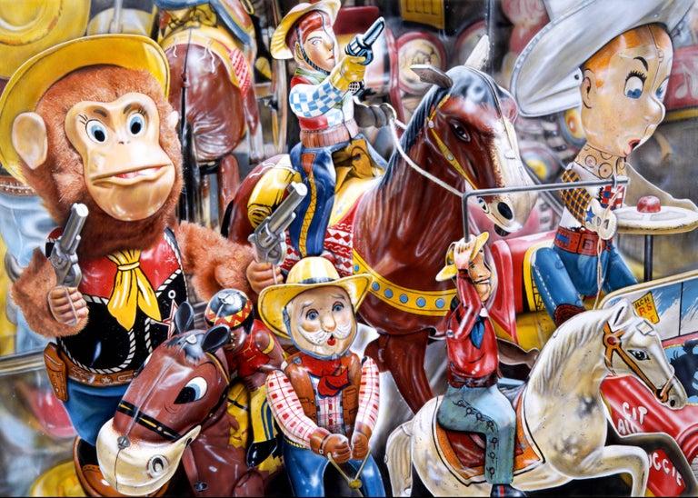 Cesar J. Santander Print - Cowboys