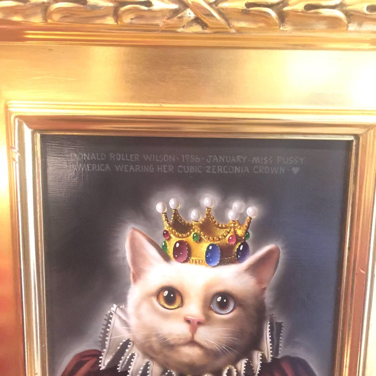 Miss Pussy America Wearing Her Cubic Zirconia Crown - Painting by Donald Roller Wilson