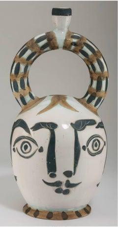 Picasso Madoura Ceramic Ramie 401 Vase Aztèque aux Quatre Visages