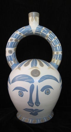 Picasso Madoura Ceramic Ramie 402 Aztec Vase With Four Faces