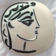 Picasso Madoura Ceramic Ramie 383 Profil De Jacqueline