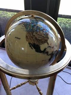"Huge Alexander Kalifano Gemstone Globe 24"" diameter"