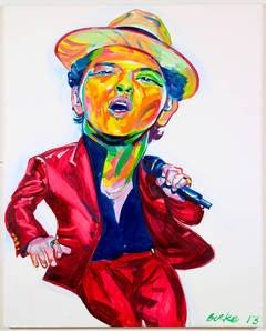 Bruno Mars by Philip Burke Original Oil Painting