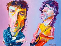 John and Keith by Philip Burke Original Oil Painting