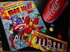 Captain America and Iron Man Original Oil Painting