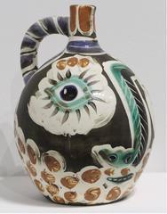 Pablo Picasso - Face With Black Nose Madoura Ceramic Ramie 609