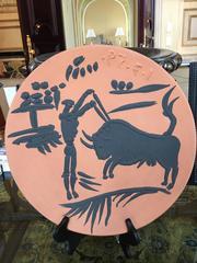 Matador and Bull -- Madoura Ceramic Ramie 427