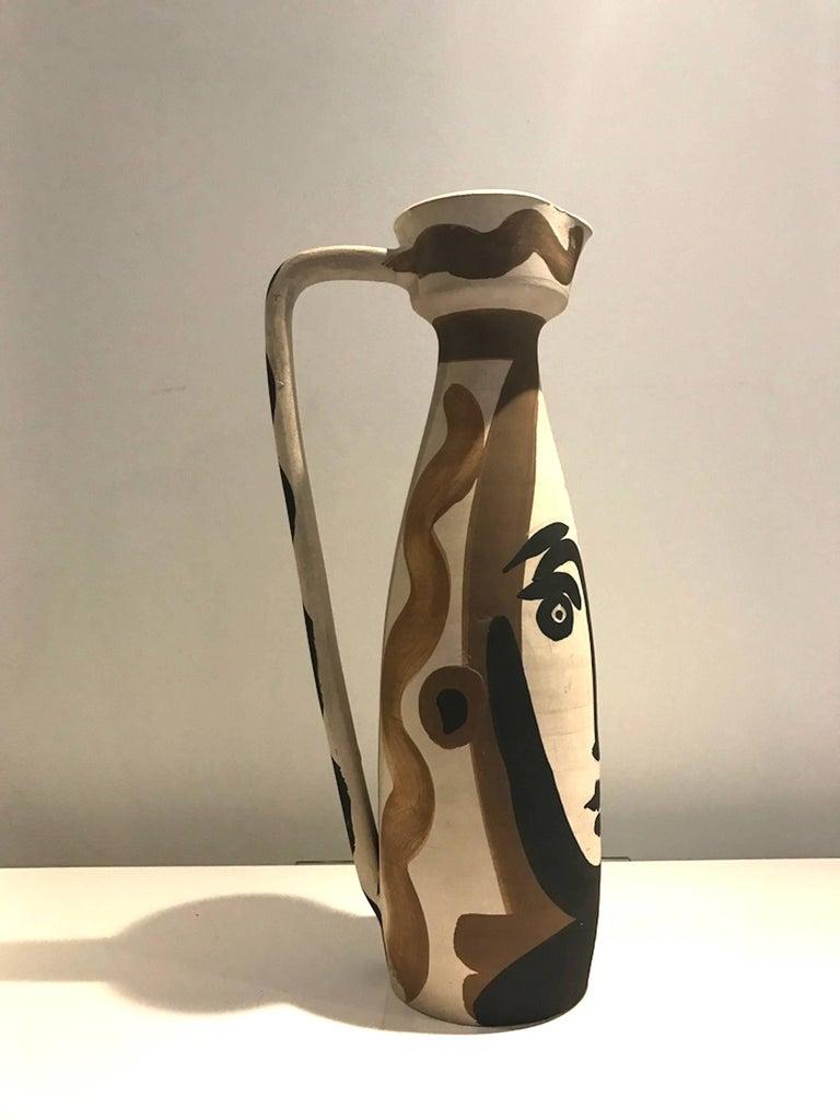 Ramie 288 Picasso Madoura Ceramic Visage  - Sculpture by Pablo Picasso